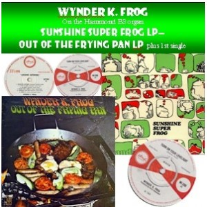 WYNDER K.FROG - SUNSHINE SUPERFROG ALBUM - OUT OF THE FRYING PAN ALBUM  PLUS SINGLES  - CD - STYLUS