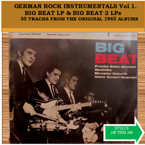 GERMAN ROCK INSTRUMENTALS VOL 1 - BIG BEAT ALBUM & BIG BEAT 2 ALBUM - CD - STYLUS