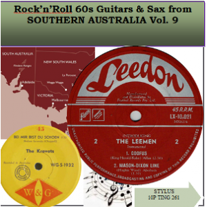ROCK N ROLL 60's GUITAR & SAX FROM SOUTHERN AUSTRALIA VOL 9 - CD - STYLUS