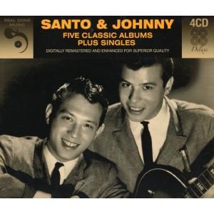 SANTO & JOHNNY - FIVE CLASSIC ALBUMS PLUS SINGLES - 4CD