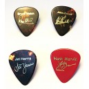 GUITAR PLECTRUM PIN BADGES - ALL FOUR - HANK - BRUCE - JET - JOHN