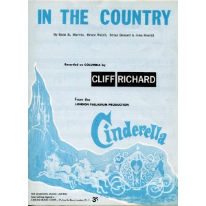 """IN THE COUNTRY"" CLIFF RICHARD SHEET MUSIC"