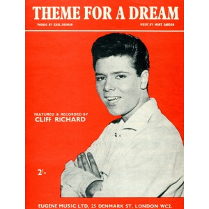 """THEME FOR A DREAM"" CLIFF RICHARD SHEET MUSIC"