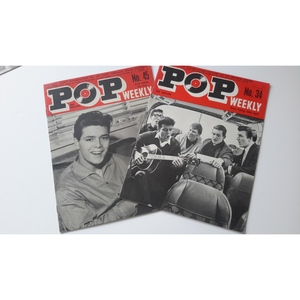 POP WEEKLY MAGAZINES ISSUES 34 & 45 (1963)