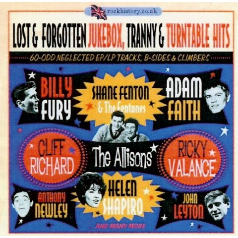 LOST & FORGOTTEN JUKEBOX.TRANNY & TURNTABLE HITS-  ROCK HISTORY 2CD