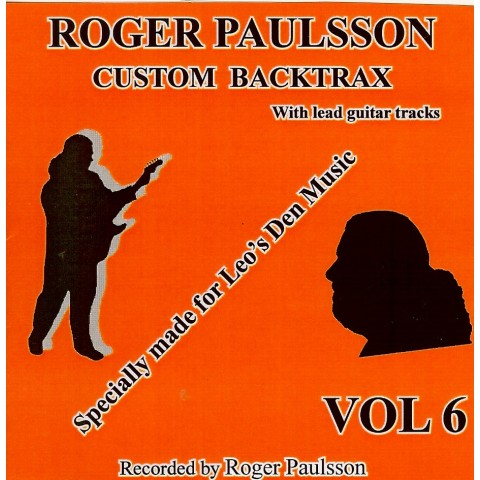 ROGER PAULSSON -  CUSTOM BACKTRAX VOL.6 - Backing Track CD WITH Tabs