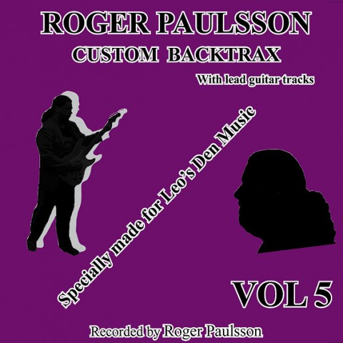 ROGER PAULSSON - CUSTOM BACKTRAX VOL.5 - Backing Track CD WITH Tabs