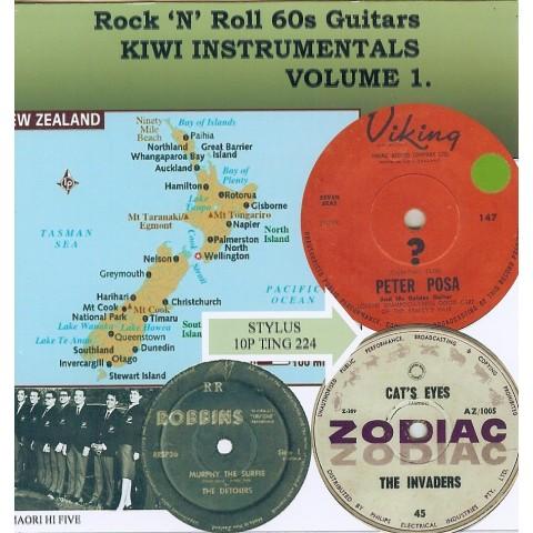 KIWI INSTRUMENTALS VOL 1 - ROCK N ROLL 60'S GUITARS -  STYLUS - CD