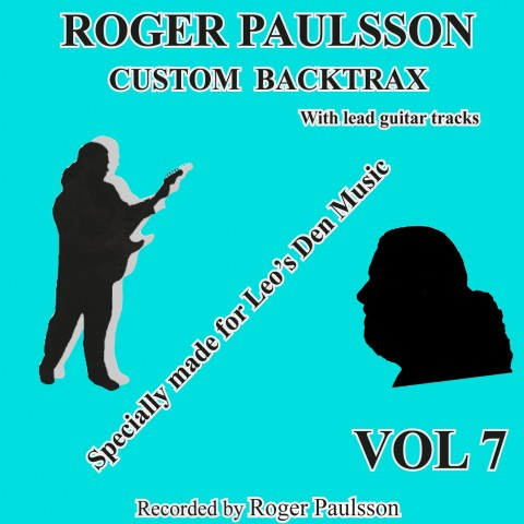 ROGER PAULSSON -  CUSTOM BACKTRAX VOL.7 - Backing Track CD WITH Tabs