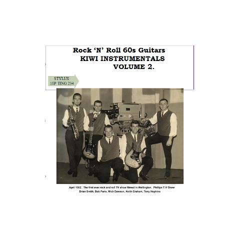 KIWI INSTRUMENTALS VOLUME 2 - ROCK N ROLL 60S GUITAR - CD - STYLUS