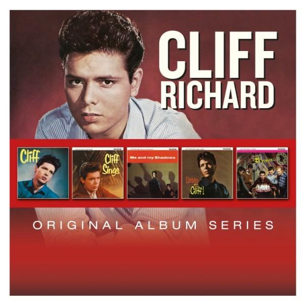 CLIFF RICHARD  - CLIFF - CLIFF SINGS - ME & MY SHADOWS - LISTEN TO CLIFF - 21 TODAY -  -   5 ORIGINAL ALBUM - CD SET