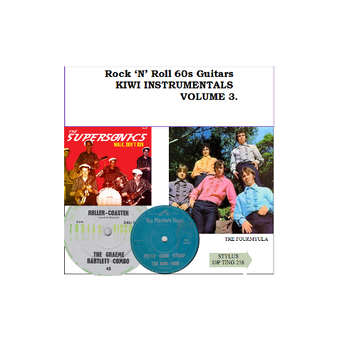 KIWI INSTRUMENTALS VOL 3 - ROCK N ROLL 60's GUITARS  - STYLUS - CD