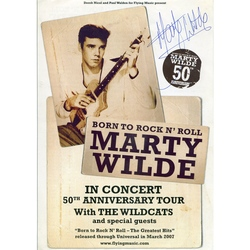 MARTY WILDE AUTOGRAPHED CONCERT FLYER