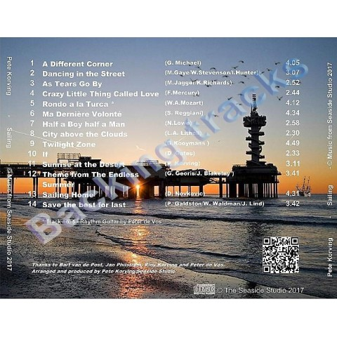 PETE KORVING - SAILING - BACKING TRACK - CD