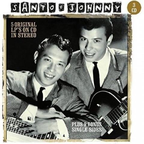SANTO & JOHNNY - 5 ORIGINAL LP'S IN STEREO - 3 CDS