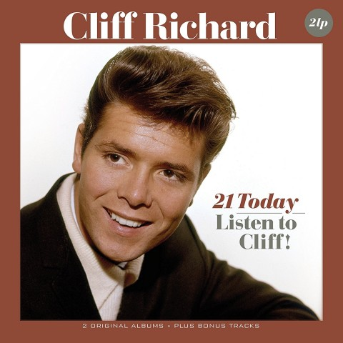 CLIFF RICHARD (WITH THE SHADOWS) - 21 TODAY AND LISTEN TO CLIFF - 2 LP IMPORT