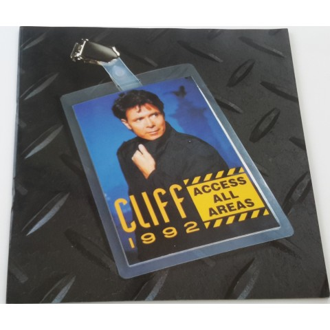CLIFF RICHARD 1992 ACCESS ALL AREAS CONCERT BROCHURE
