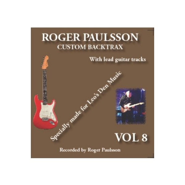 ROGER PAULSSON -  CUSTOM BACKTRAX VOL. 8 - BACKING TRACK CD & TABS