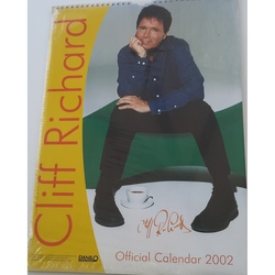 CLIFF RICHARD 2002 OFFICIAL A3 CALENDAR