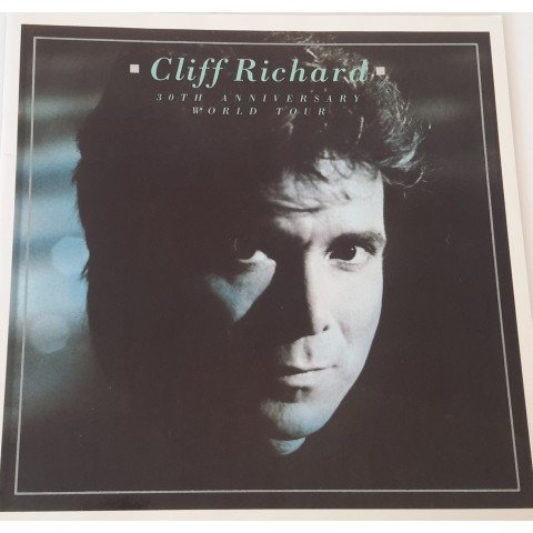 "CLIFF RICHARD ""30th ANNIVERSARY"" WORLD TOUR CONCERT BROCHURE"