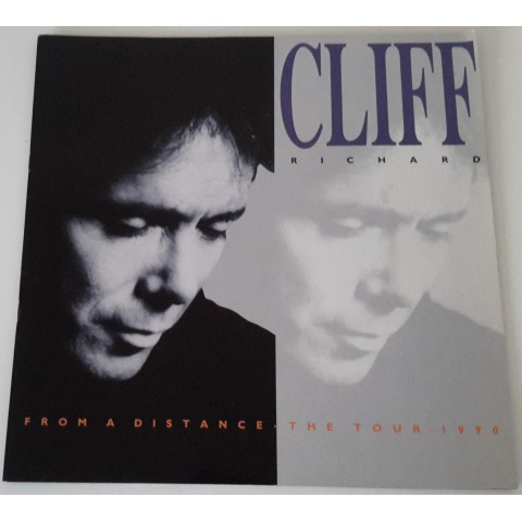 "CLIFF RICHARD ""FROM A DISTANCE"" 1990 TOUR BROCHURE"