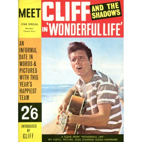 """MEET CLIFF & THE SHADOWS IN WONDERUL LIFE"" BOOK"