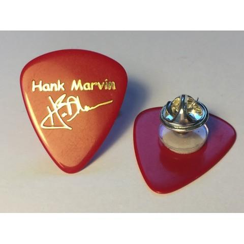 HANK MARVIN - GUITAR PLECTRUM - BADGE PIN