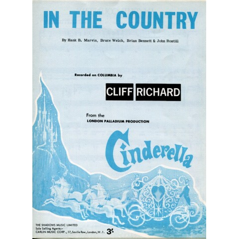 """""""IN THE COUNTRY"""" CLIFF RICHARD SHEET MUSIC"""