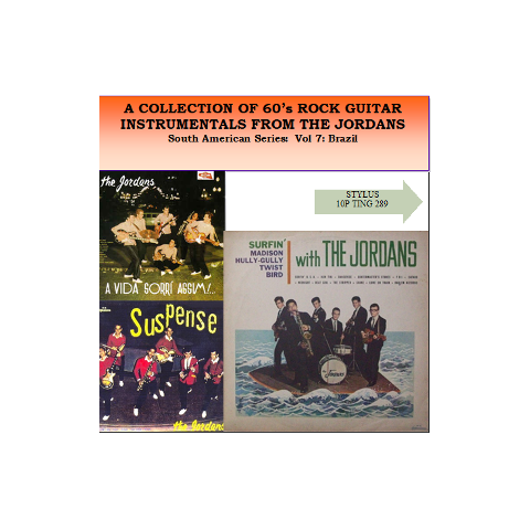 A COLLECTION OF 60'S ROCK N ROLL GUITAR INSTROS - JORDANS - STYLUS - CD