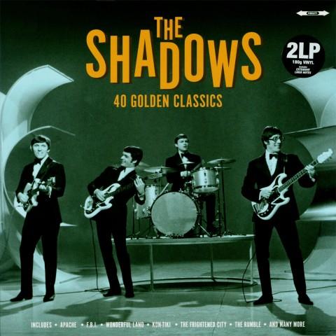 THE SHADOWS - 40 GOLDEN CLASSICS - 2LP SET IMPORT