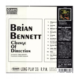 BRIAN BENNETT - CHANGE OF DIRECTION - JAPANESE  IMPORT CD