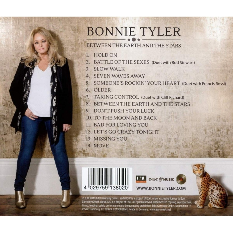 BONNIE TYLER - BETWEEN THE STARS AND THE EARTH - CLIFF DUET - CD - Leo's  Den Music Direct