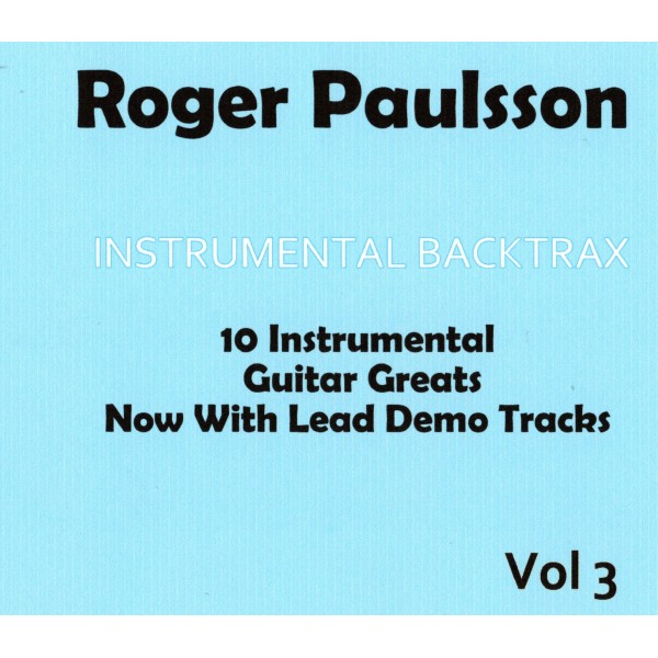 ROGER PAULSSON - INSTRUMENTAL BACKTRAX VOL 3 - CD