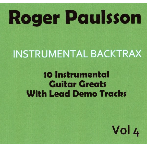 ROGER PAULSSON - INSTRUMENTAL BACKTRAX VOL 4 - CD