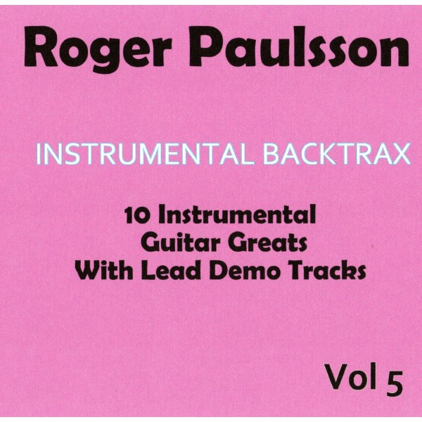 ROGER PAULSSON - INSTRUMENTAL BACKTRAX VOL 5 - CD