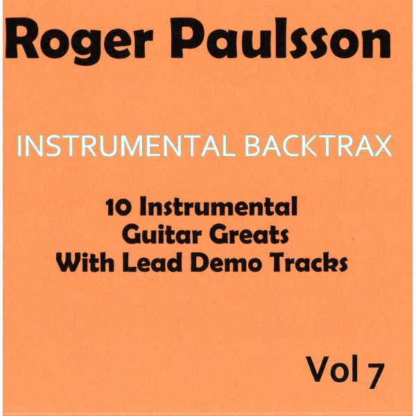 ROGER PAULSSON - INSTRUMENTAL BACKTRAX VOL 7 - CD