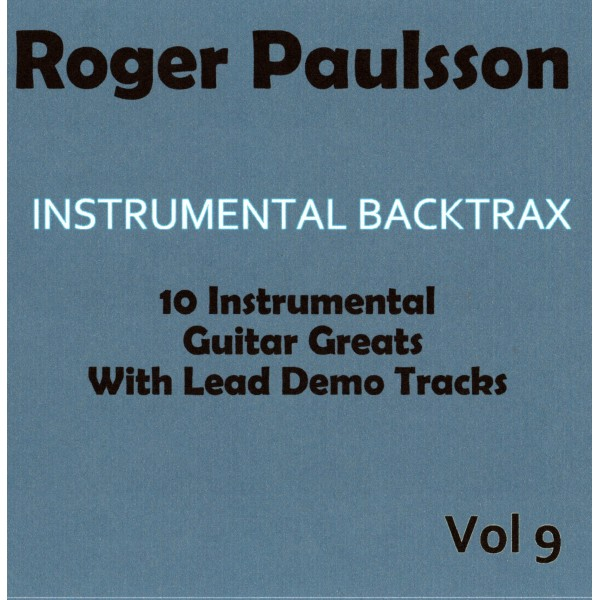 ROGER PAULSSON - INSTRUMENTAL BACKTRAX VOL 9 - CD