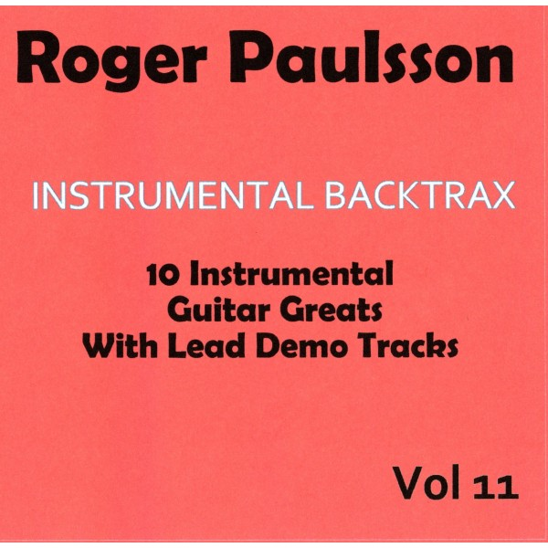 ROGER PAULSSON - INSTRUMENTAL BACKTRAX VOL 11 - CD