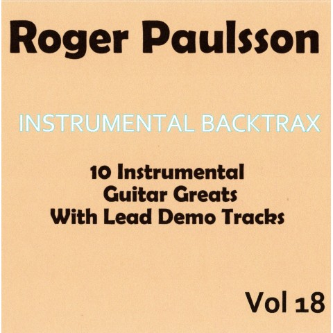 ROGER PAULSSON - INSTRUMENTAL BACKTRAX VOL 18 - CD WITH TABS