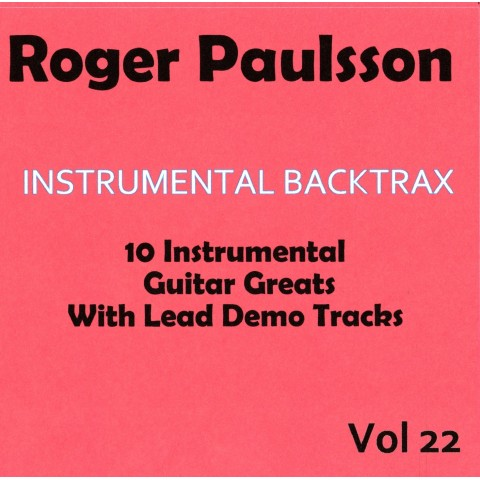 ROGER PAULSSON - INSTRUMENTAL BACKTRAX VOL 22 - CD WITH TABS