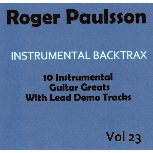 ROGER PAULSSON - INSTRUMENTAL BACKTRAX VOL 23 - CD