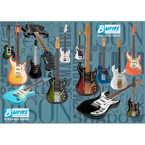 BURNS GUITARS JIGSAW LIMITED EDITION PUZZLE - 1000 PIECES