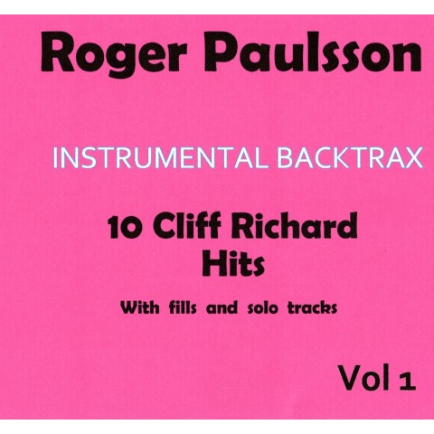 ROGER PAULSSON - INSTRUMENTAL BACKTRAX CLIFF RICHARD - CD BACKING TRACK
