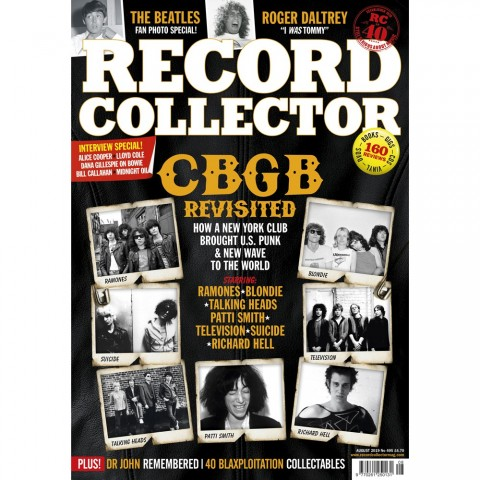 RECORD COLLECTOR MAGAZINE - AUG 2019 - HANK MARVIN