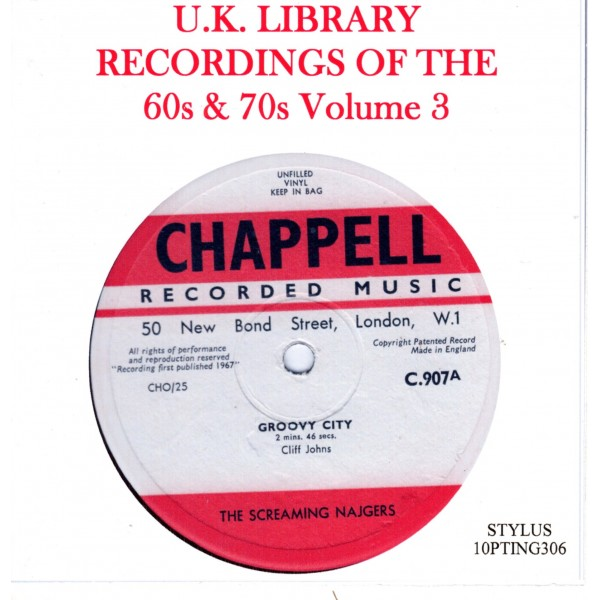 UK LIBRARY RECORDINGS OF THE 60s & 70s Vol 3 - CD - STYLUS