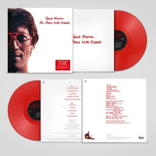 HANK MARVIN - ALL ALONE WITH FRIENDS - RED VINYL