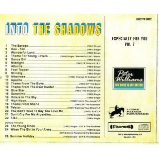 PETER WILLIAMS - INTO THE SHADOWS - CD ESPECIALLY FOR YOU VOL 7