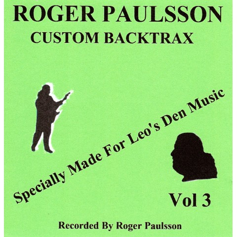 ROGER PAULSSON - CUSTOM BACKTRAX VOL.3 - Backing Track CD WITH Tabs