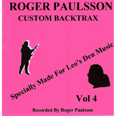 ROGER PAULSSON - CUSTOM BACKTRAX VOL.4 - Backing Track CD WITH Tabs
