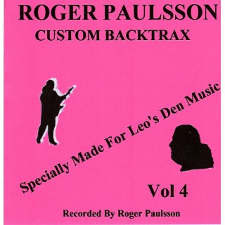 BACKING TRACK CD - ROGER PAULSSON - ROGER PAULSSON CUSTOM BACKTRAX VOL.4 (Exclusive to Leo's Den Music)
